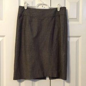 Gray Banana Republic Pencil Skirt